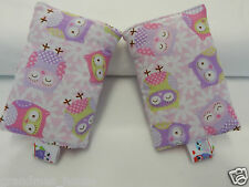 Baby Carrier Dribble Teething Pads Suits Most Carriers + Ergo - Purple Owls
