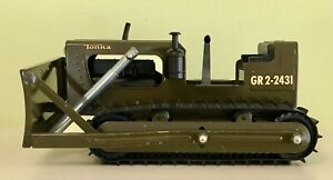 Tonka GR 2-2431 Army Green Military Bulldozer, 1960s