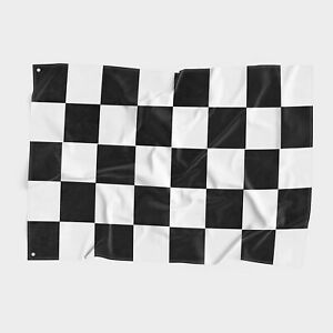 Checkered Flag 3x5 FT With Grommets Black White Nascar Racing Race Car Speedway