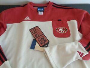 SAN FRANCISCO 49ers ADIDAS Vintage 1998 Sweatshirt NEW Football NFL Size LARGE
