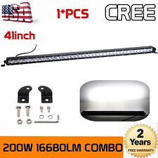 Slim 41inch 200W Led Light Bar Single Row COMBO Driving Truck Offroad 4WD 40/42