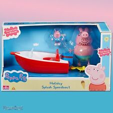 Peppa Pig Holiday Time Splash Speedboat con Daddy Pig & George figuras