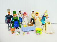 "Polly Pocket Wedding Disney Princess Prince 3"" Doll Lot MagiClip Frozen Beast"