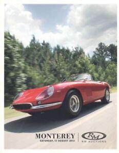 R M Sotheby's catalogue  Auctions Monterey 17 August 2013. HB