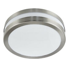 Searchlight 28cm Dia 2 Light Silver Drum Outdoor Porch Ceiling Mountable Fitting