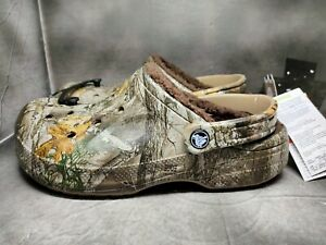 Crocs Realtree Winter Edge Lined Clogs Sandals Casual Size M7/W9 205378-280