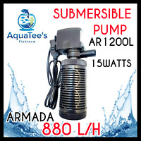 ARMADA AR1200L SUBMERSIBLE AQUARIUM FILTER 880L/H MARINE FOUNTAIN FISH TANK NANO