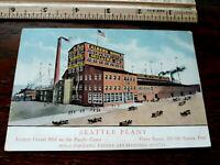 Historic SEATTLE Washington ALBERS BROS MILLING CO litho PHOTO POSTCARD RPPC