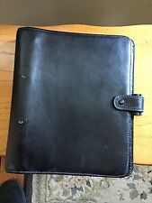 Genuine Filofax Organiser A5 Leather Black Vintage Ruler Notes A Z Tabs  To Do