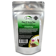 Pau D'Arco Tea 100% Pure (30 Premium Bags) All-Natural Immune System Booster