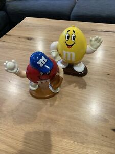 M&M Red And Yellow Vending Dispensers Containers 1991/92