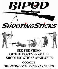 BIPOD Shooting Sticks GUN REST ***** INCLUDES Carry Case *****