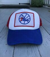 PHILADELPHIA SIXERS 76ERS ADIDAS SNAPBACK HAT Vintage Big Letters Basketball