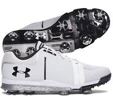 New Under Armour Ua Tempo Sport Golf Shoes Spikes Cleats Size 8 White Silver