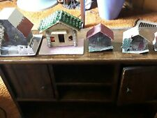 Lot Of 5 Vintage Paper Christmas Houses