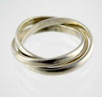 Vintage Taxco Mexico Sterling Silver Triple Band Ring 925 TA-141 Size 9.25 6.2G