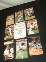 BASEBALL CARDS JOSE CANSECO POSTCARDS SET 1989 BARRY COLLA  wt ENVELOPE RARE