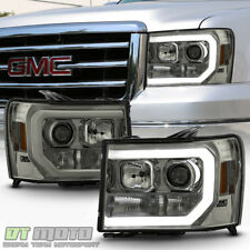 Smoked 2007-2013 GMC Sierra 1500 2500 3500HD LED OPTIC Tube Projector Headlights