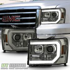 Smoked 2007-2013 GMC Sierra 1500 2500 3500HD LED OPTIC Tube Projector Headlights