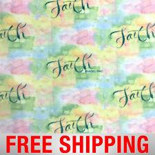 "Inspirational Faith Fleece Fabric - 60"" Wide - Style# 8083 - Free Shipping!"