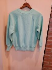 Vtg 1970s Crewneck Sweatshirt Thick Banded Waist And Cuffs Mens Small Womens M-L