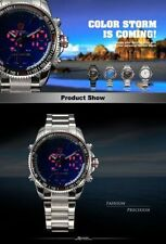 Sport Adult Round Wristwatches with Acrylic Crystal