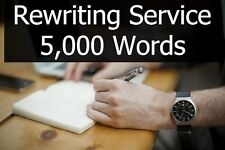 Content Rewriting Service - 5,000 Words of Article or Book Text