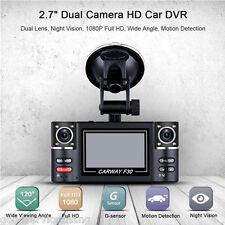 "2.7"" SOS DVR Digital Video Recorder 120° Dual Rotated Lens 180° Rotation HD"