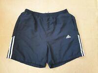Herren Vintage Adidas Schwarz Schwimmen Shorts Größe XL