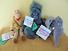 "Disney*Mini Bean Bag Plush beanie*Tarzan*Clayton Terk Shep elephant gorilla 8"""