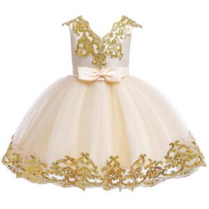 1-11 Years Girls Tutu Dress Flower Kids Birthday Princess Wedding Princess Gown