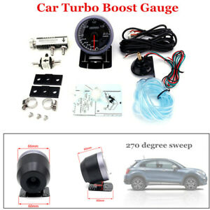 60mm Car Turbo Boost Gauge 2 Bar 270degree&Adjustable Turbo Boost Controller Kit