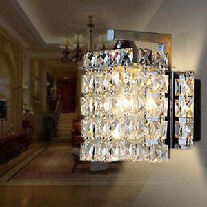 Modern Crystal LED Wall Lights Aisle/Bedside light Single Head Wall lamp US