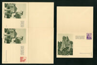 Liechtenstein Cards XF Early 5x Reply cards w/ photos & stamps