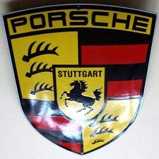 PORSCHE Stuttgart Emailschild MAKELLOS Carrera Spyder Targa Boxster MITTELFORMAT