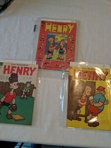 3 Vintage  HENRY Comic Books - CARL ANDERSON'S by Dell #14 ,#26,and #37