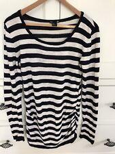 Striped Maternity Jumper Size Medium H&M Mama 100% Cotton