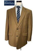 Brooks Brothers Italian Made Wool Brown Houndstooth Blazer Sport Coat 44R