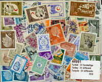 Turkey Collection of 51 Different Stamps Turkei Briefmarken Turquie Timbres