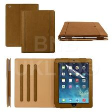 BROWN & TAN stand Smart Magnetic Leather Case Cover for  ipad Air 2