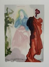 Estampe DALI : Prière de Saint Bernard, Divine comédie DANTE (Certificat)