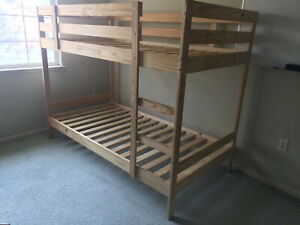 Kids Bunk Bed bought 2 years back from Ikea and is made out of wood.