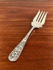 STIEFF CO. STERLING SILVER COLD MEAT FORK: ROSE 1892