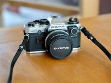 Olympus OM10, manual adapter, 50mm f1.8, strap and case