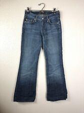 7 For All Mankind Womens Dojo Dark Wash Flare Wide Leg Jeans Size 24x28