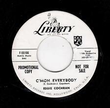 ROCKABILLY-EDDIE COCHRAN-LIBERTY 55166-C/MON EVERYBODY/DON'T EVER LET ME GO