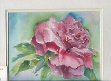 PEONY PEONIES GARDEN FLOWERS IMPRESSIONISM MATTED ARTIST ORIGINAL ART PRINT