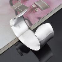 Cuff Women Bangle Noble 925 silver plated Bracelet Big Fashion Men