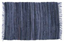 Sturbridge 4' x 6' Country Rag Rug in Denim Blue, Hand Woven, Cotton