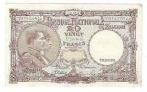Belgium - 1945, 20 Francs